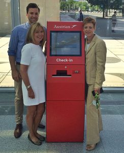 Der neue Self-Check-In Terminal von Austrian Airlines.