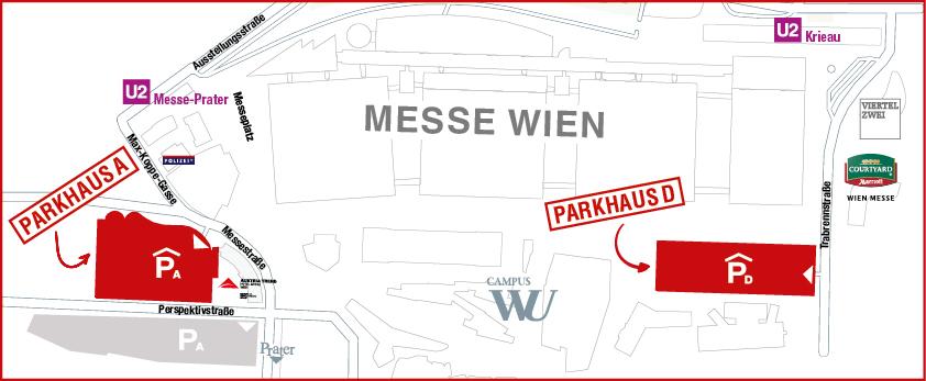 Parken Messe Wien Exhibition Congress Center